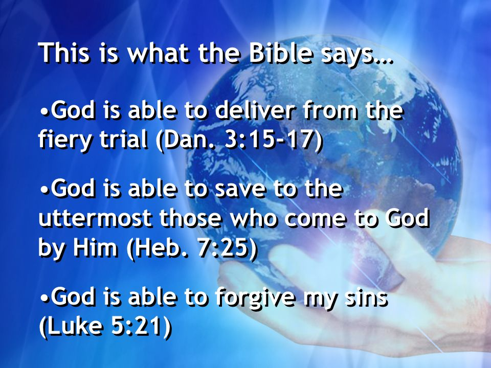 god is able to deliver from the fiery trial matthew 9 27 31 when jesus departed from there two blind men      rh   slideplayer