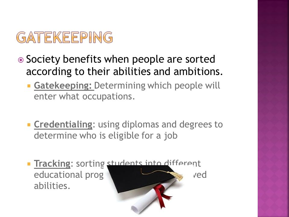  Society benefits when people are sorted according to their abilities and ambitions.