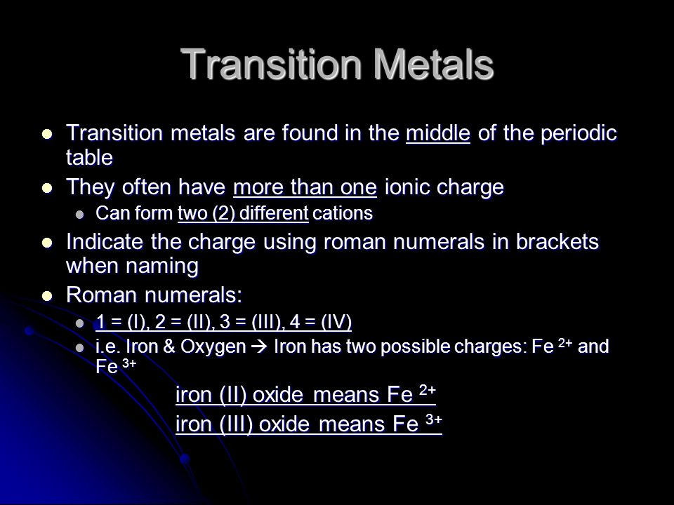 Binary ionic compounds naming formulas binary ionic compounds 4 transition metals transition urtaz Gallery