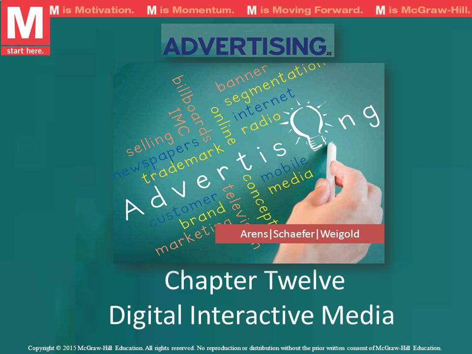 Chapter Twelve Digital Interactive Media Arens|Schaefer|Weigold Copyright © 2015 McGraw-Hill Education. All rights reserved. No reproduction or distri