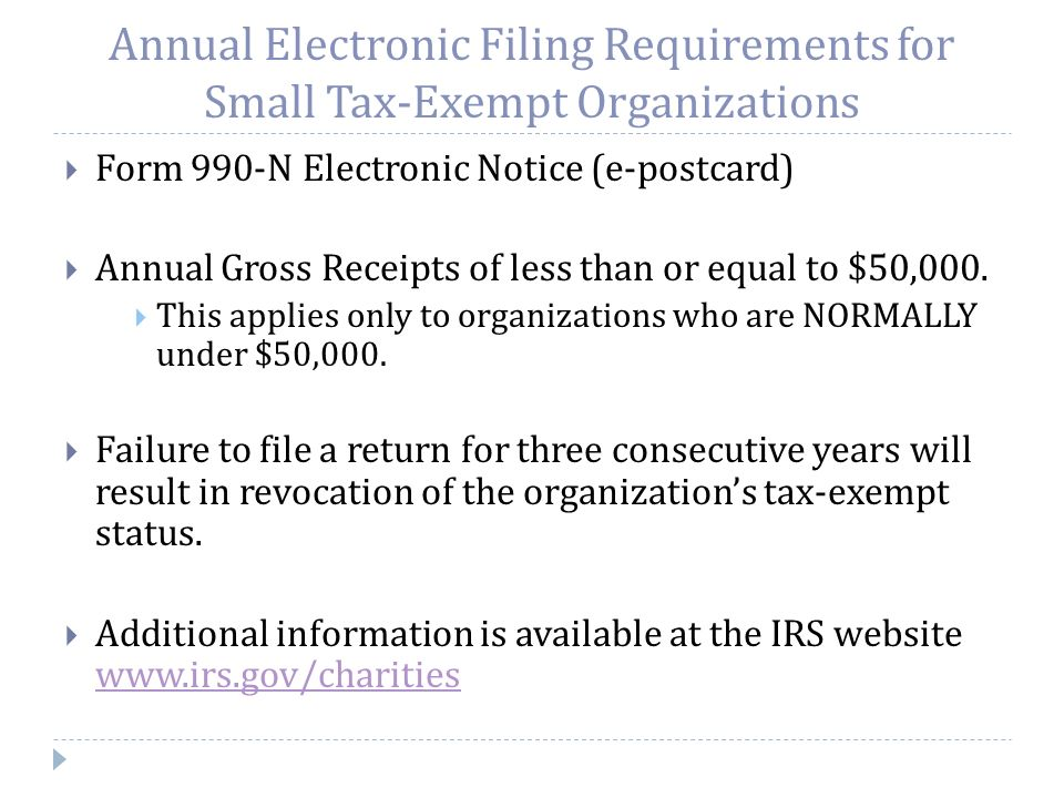 Irs Requirements For Non Profit Organizations Presented By Emilio J