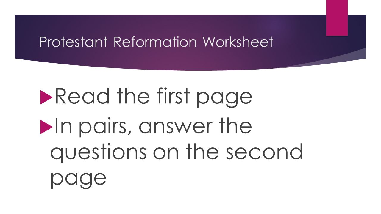 protestant reformation essay questions