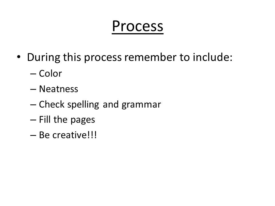 Element baby book project procedure and example introduction in 3 process during this process remember to include color neatness check spelling and grammar fill the pages be creative urtaz Images