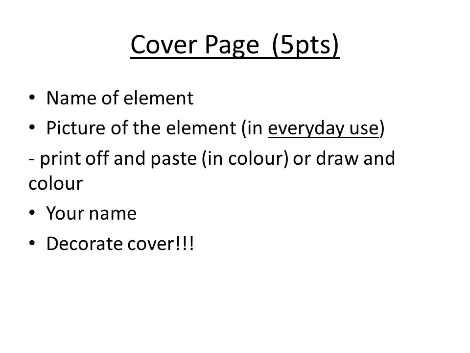 Element baby book project procedure and example introduction in slide4g urtaz Images