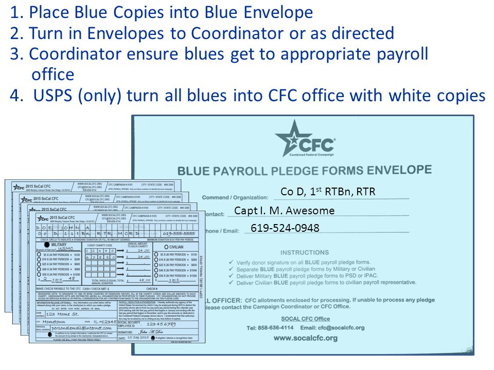 1 SoCal Combined Federal Campaign 2015 Paper Pledge Form ...