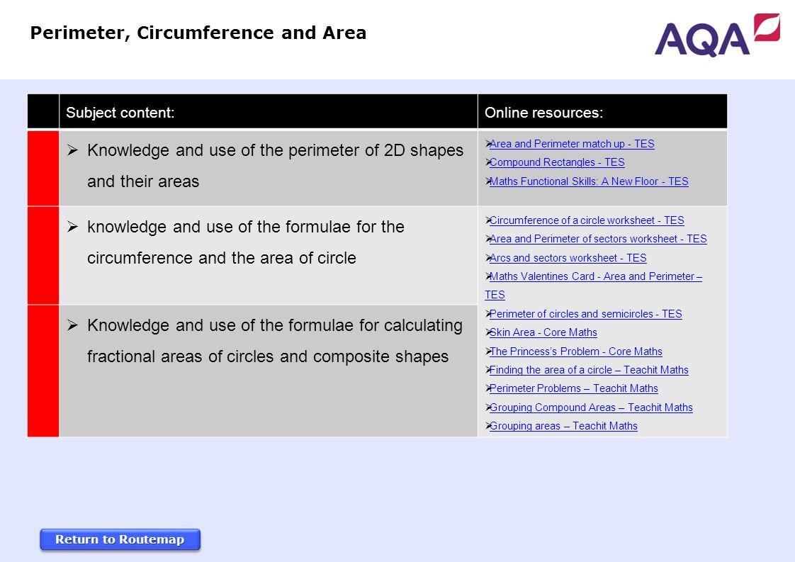 Area of compound shapes worksheet gcse
