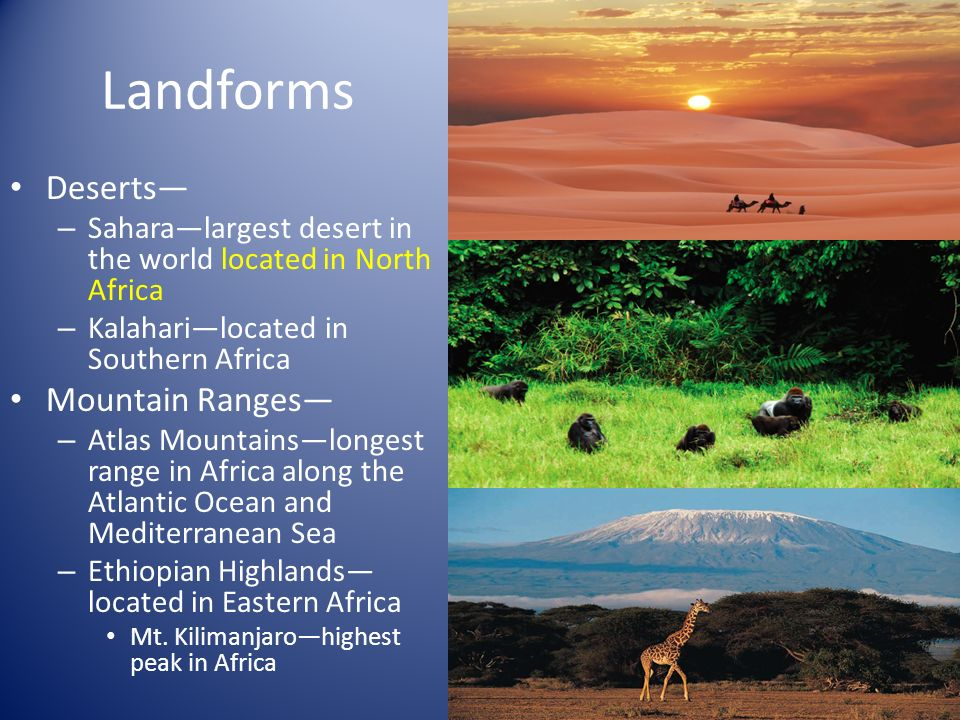 Unit Africa The Land Landforms Deserts Saharalargest - Largest desert in the world
