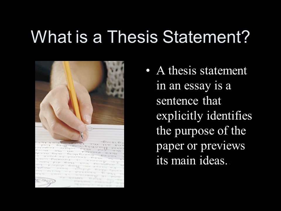 ideas for writing a thesis statement