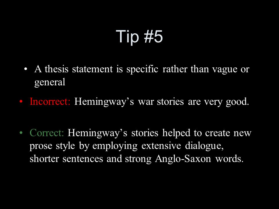 help to create a thesis sentence