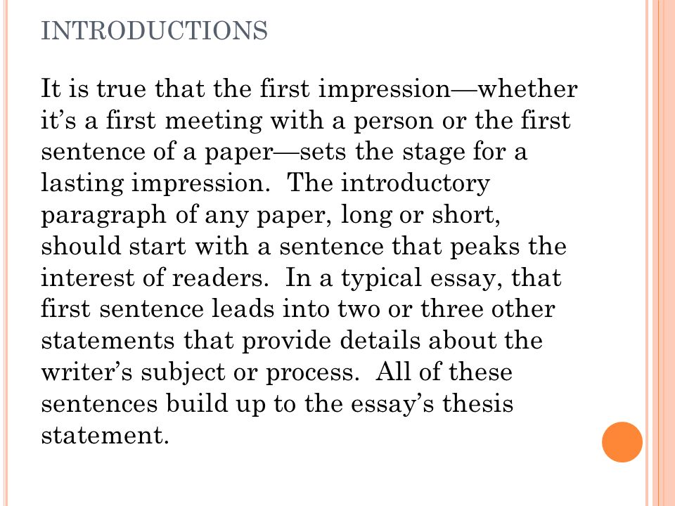 first impression 2 essay