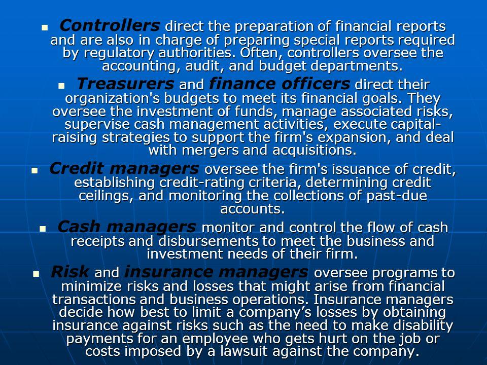 Financial Managers Gio Perazo Job Description The duties of – Treasurer Job Description
