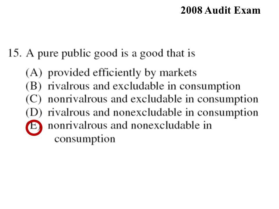 76% 2008 Audit Exam