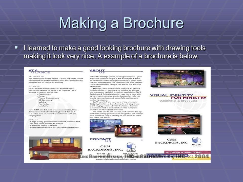 making a brochure