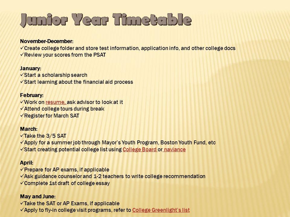 7 November December: Create College ...