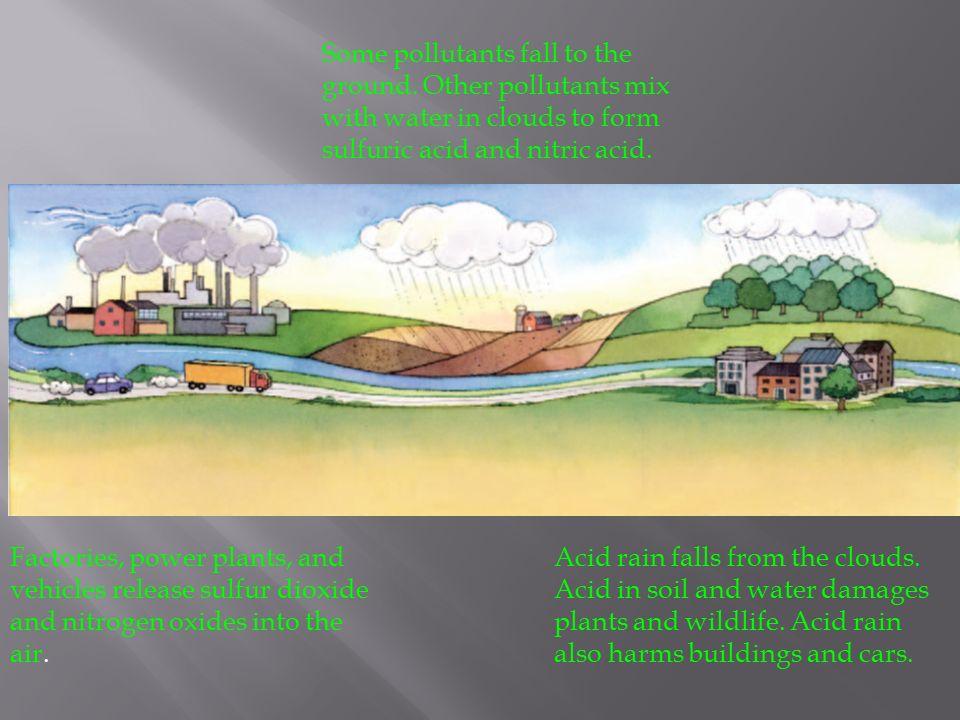 Acid Rain.  Rain that can damage the environment because it ...