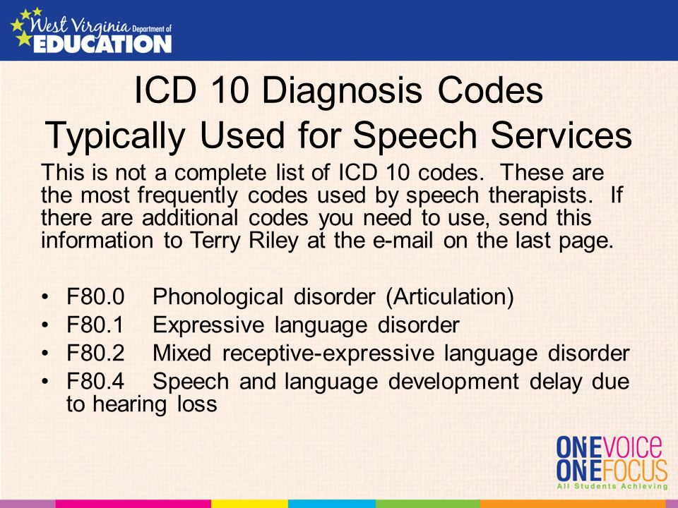 icd 10 codes for speech therapy