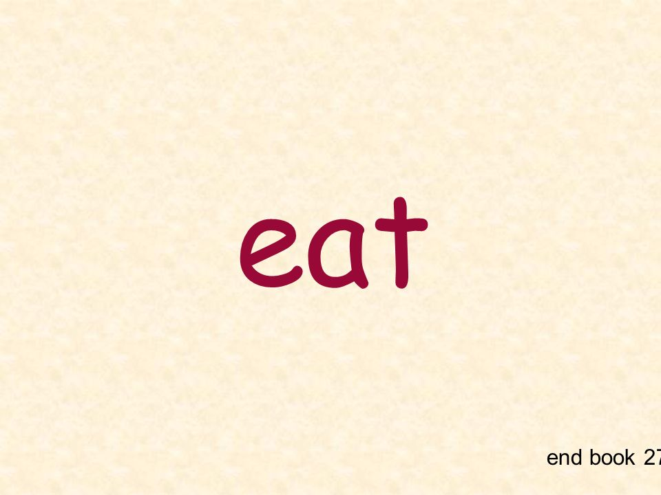 eat end book 27