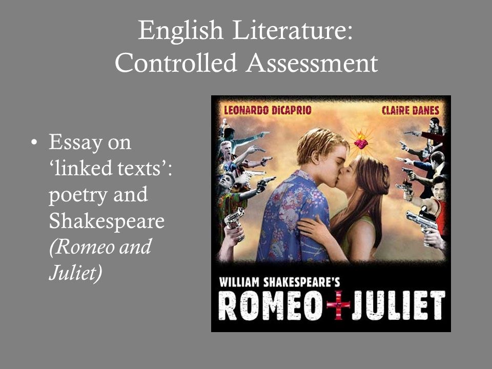 english literature controlled assessment