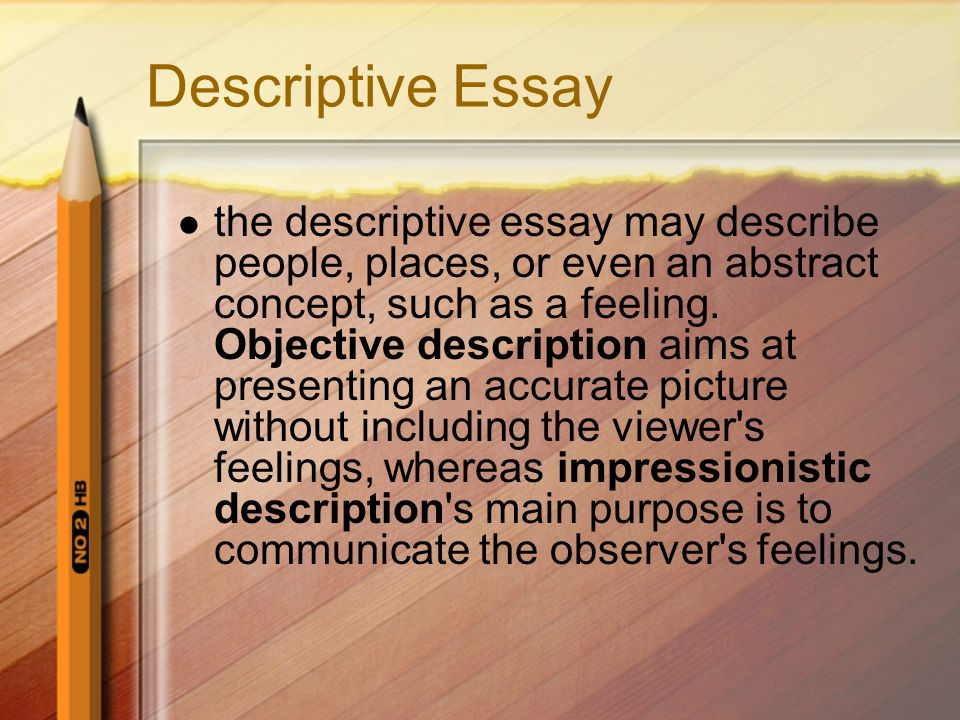 descriptive essays of places