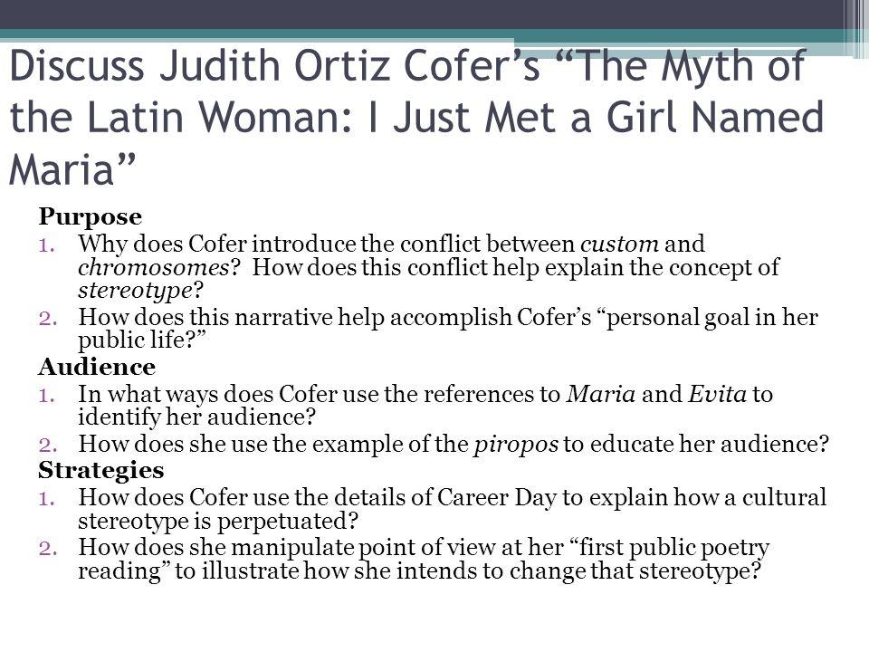 cirital analysis on i just met a girl named maria
