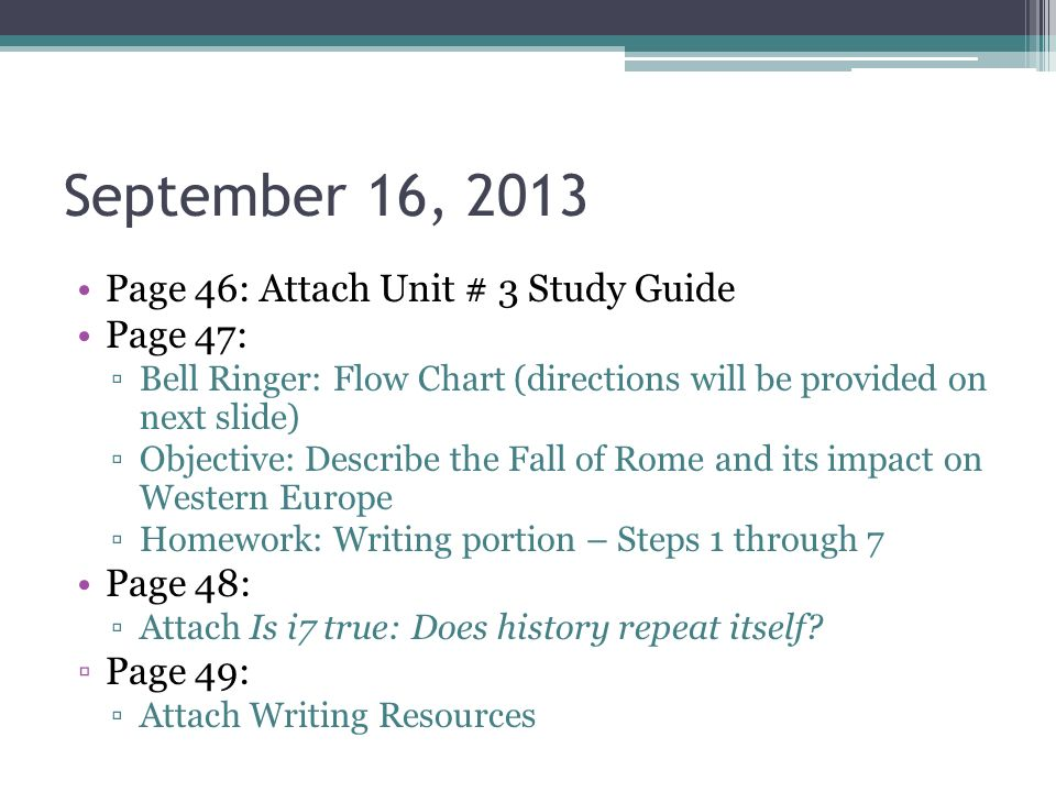 unit three study guide