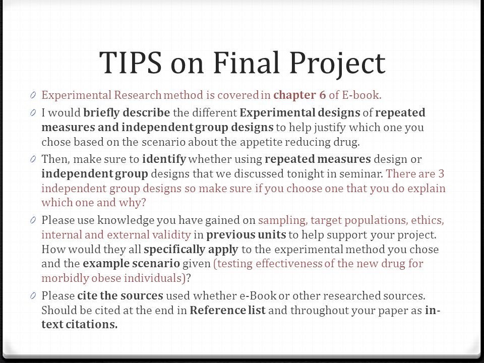 sample chapter 3 experimental research methodology