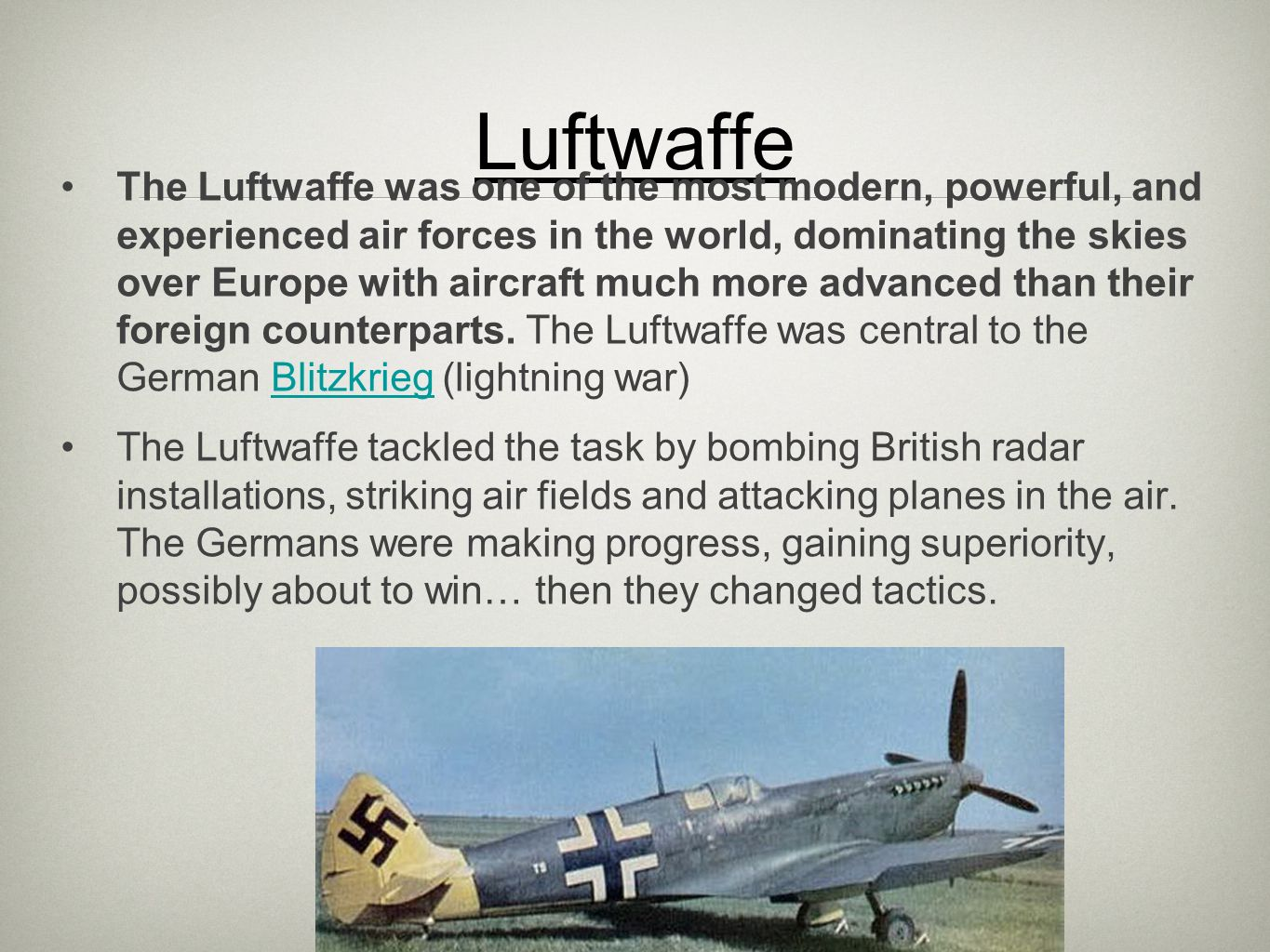 a report on the battle of britain in 1940 The battle of britain was a continued attack by the german air force on great britain during the summer and autumn of 1940 the first objective of the campaign was to gain control of the air space above britain from the royal air.