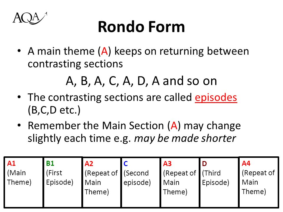 Area of Study 05: Structure and Form AQA GCSE Music. - ppt download