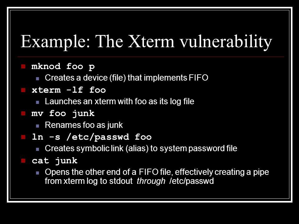Unix Security Assessing Vulnerabilities Classifying Vulnerability