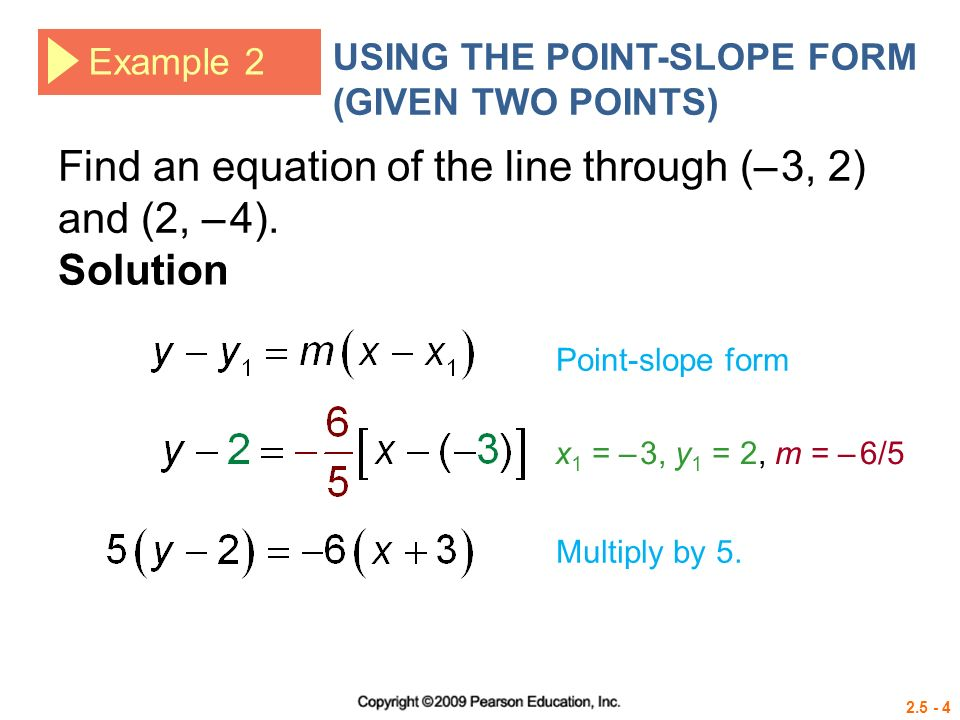 Equations In Point Slope Form - Tessshebaylo