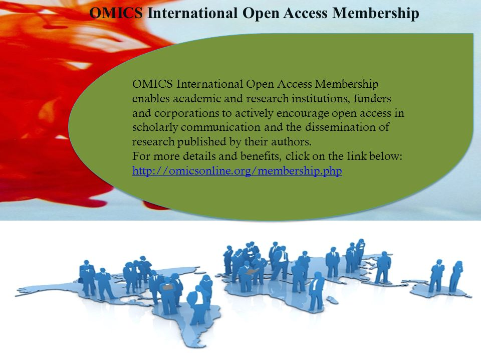 OMICS International Open Access Membership OMICS International Open Access Membership enables academic and research institutions, funders and corporations to actively encourage open access in scholarly communication and the dissemination of research published by their authors.