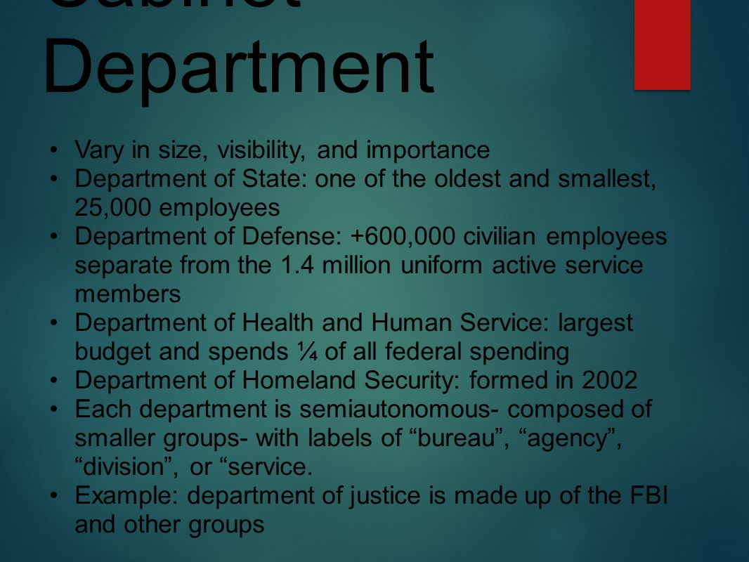 The Federal Bureaucracy: Administering the Government PART ppt ...