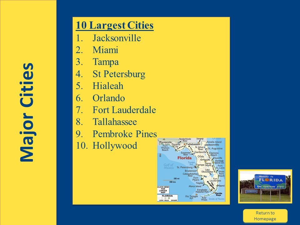 References Florida Highways Capital Cities Parks History Animoto - Major cities in florida
