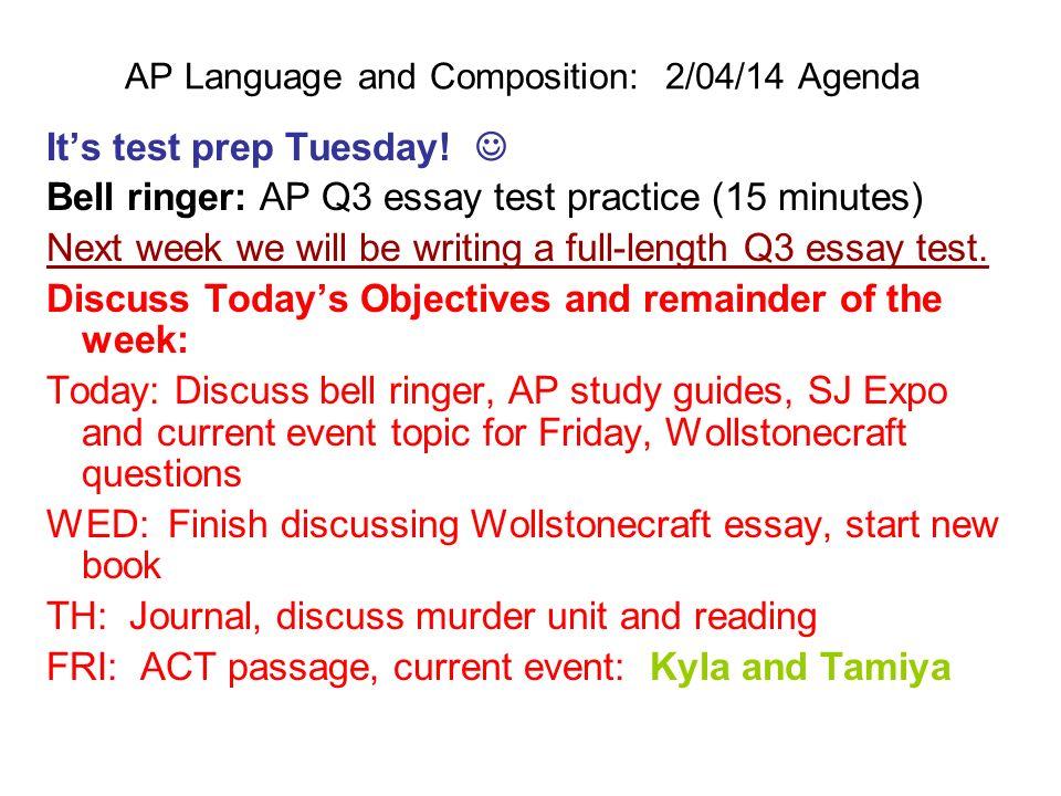 3 ap lang essays Ap english language and composition: pace your essay writing ap english language and composition: pace your pacing your exam essays ap essay.