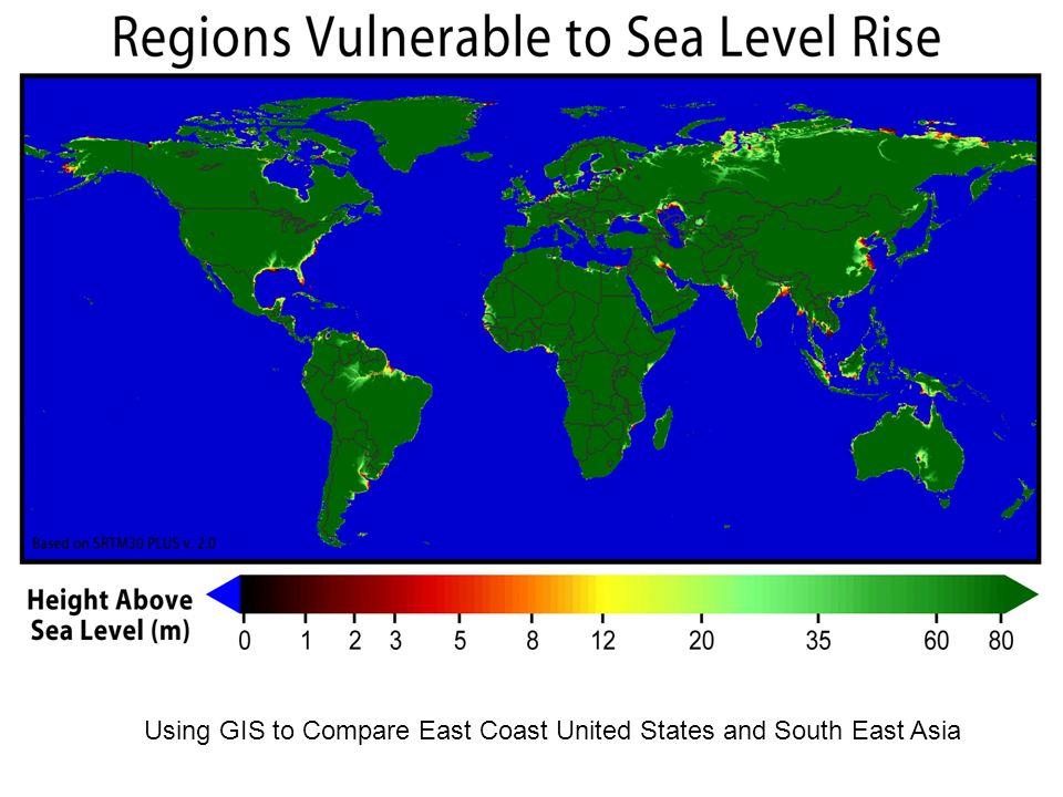 Using GIS To Compare East Coast United States And South East Asia - East coast of united states