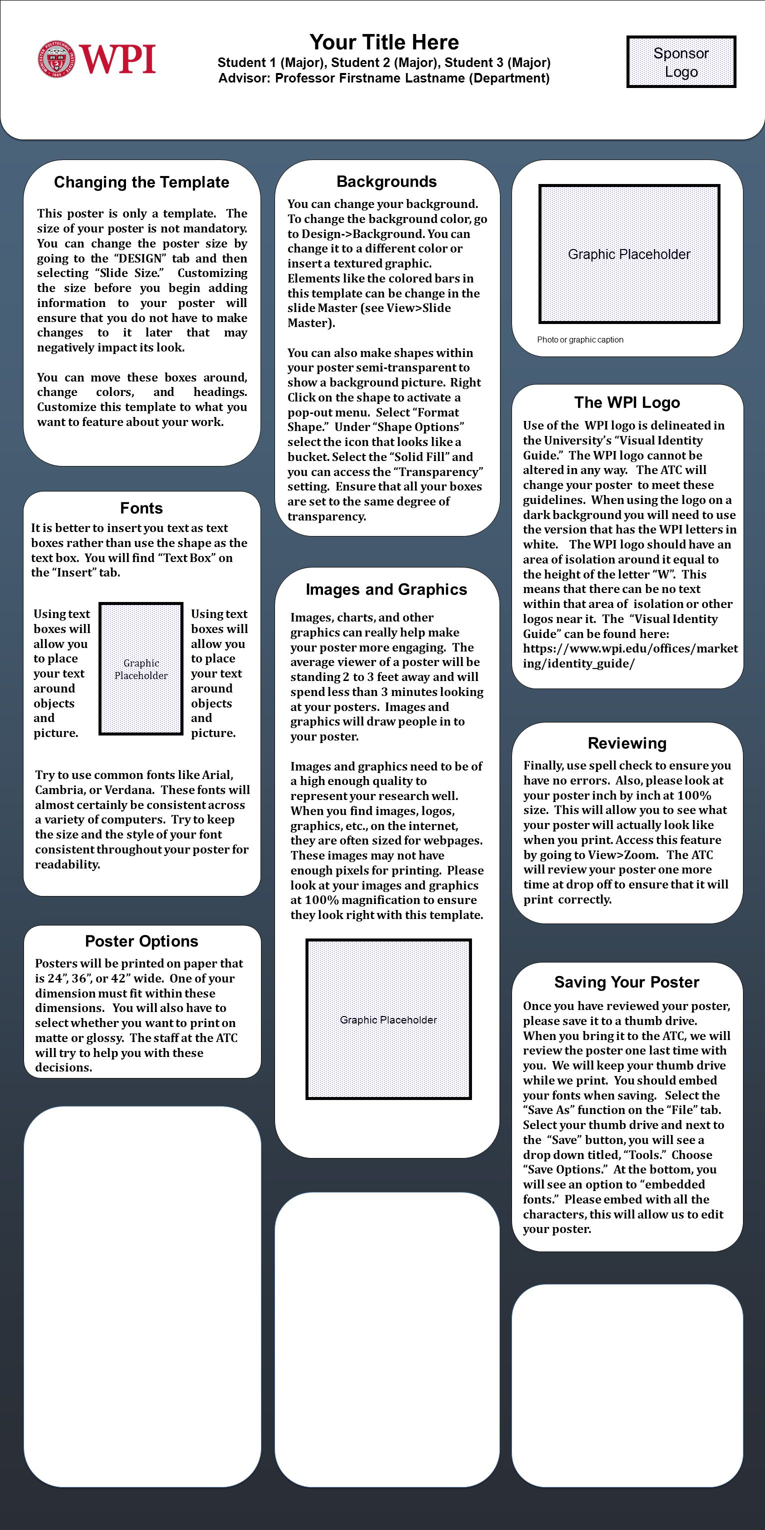 Student poster template