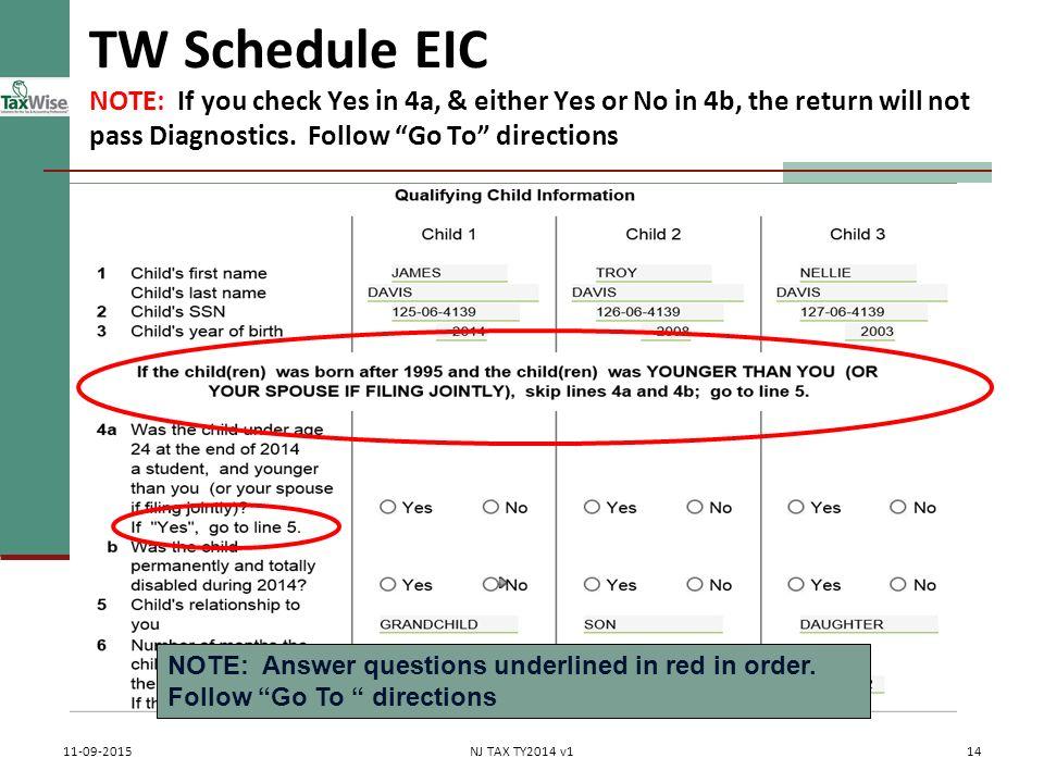 Earned Income Credit EIC Pub 4012 Tab I Pub 17 Chapter 36 – Schedule Eic Worksheet