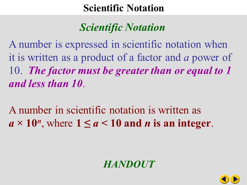 Pre-Algebra Worksheets, Scientific Notation