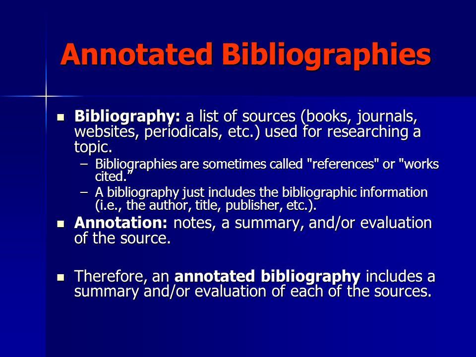 bibliographic essays