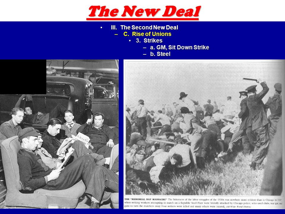 19 The New Deal III. The Second New DealIII. The Second New Deal –