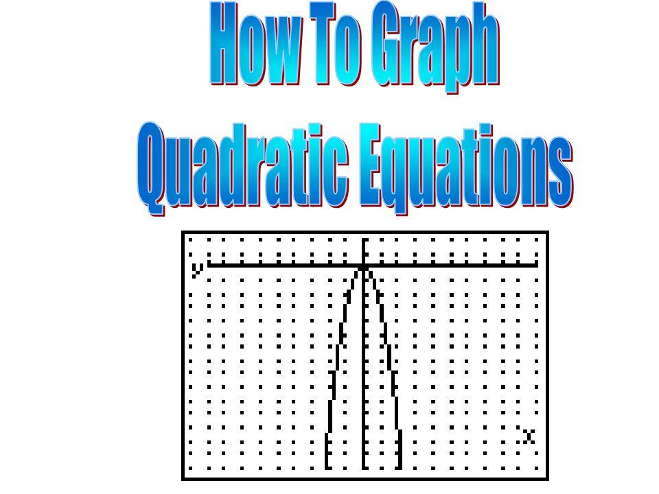 1e Standard Form Of A Quadratic Equation Is Y Ax 2 Bx C 2