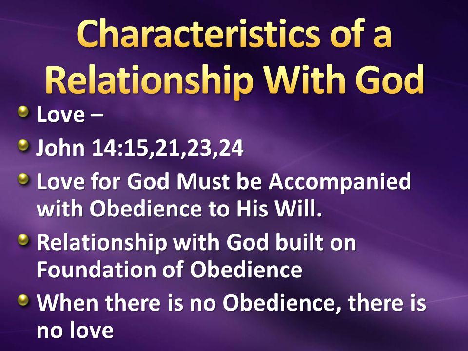 relstionship characteristics