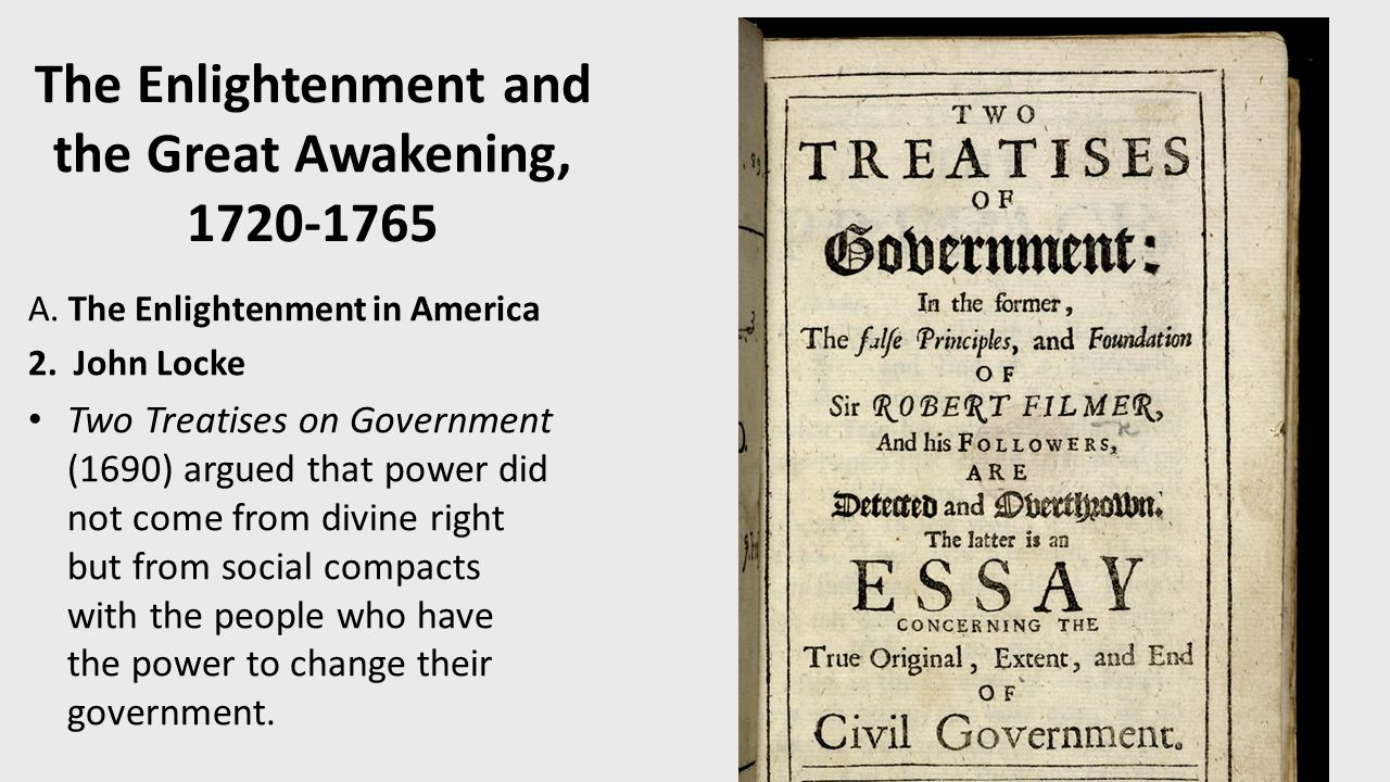 the great awakening and the enlightenment