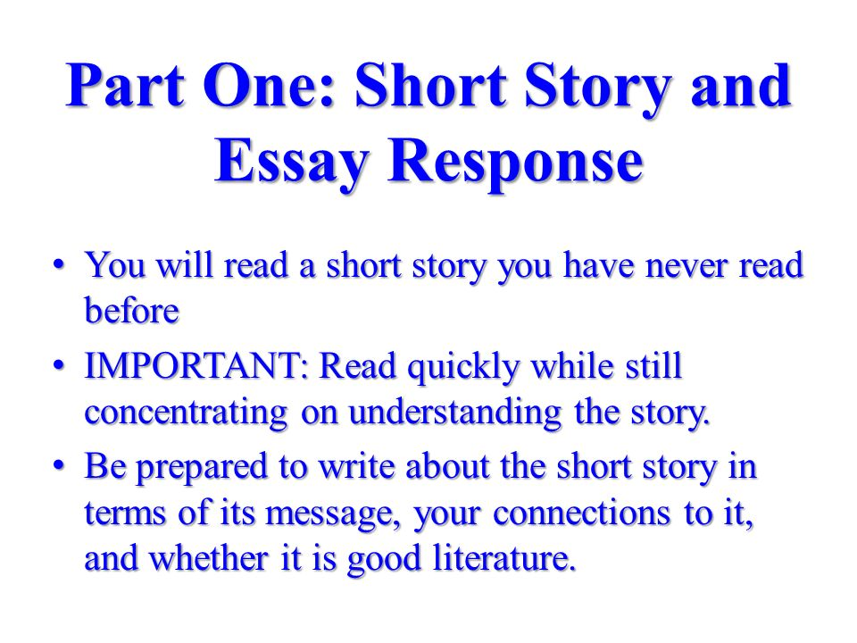 difference between short stories and essays