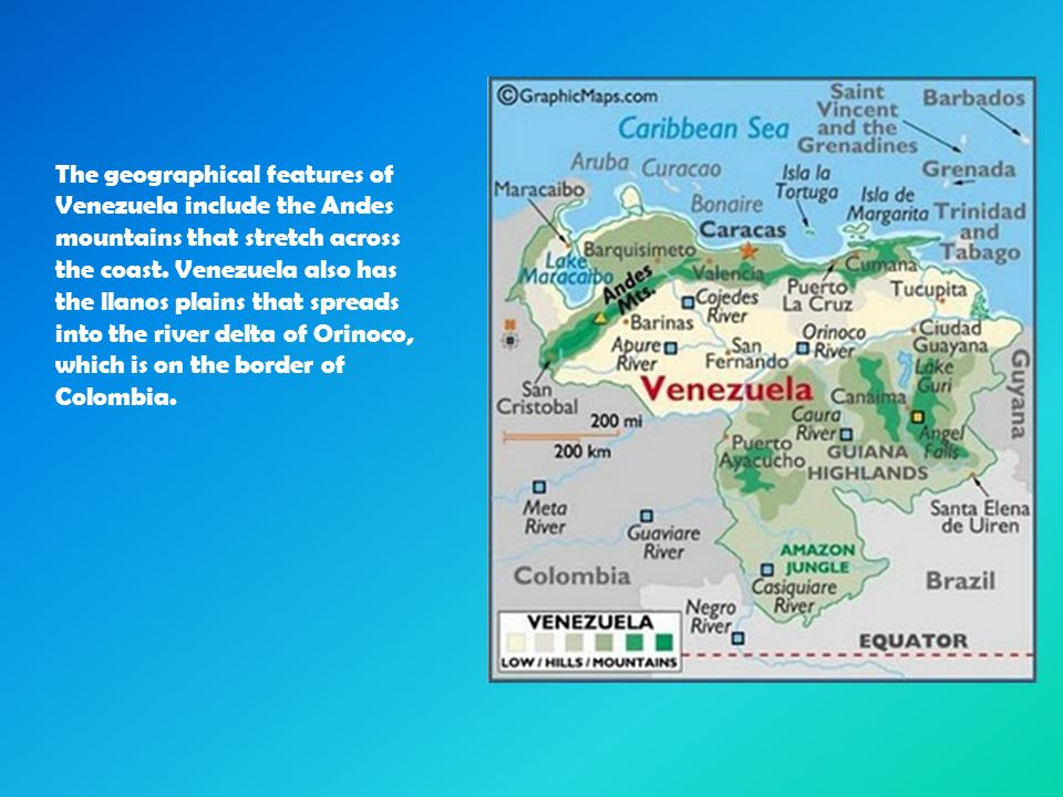the geographical features of venenzuela Start studying latin america - geographic features learn vocabulary, terms, and more with flashcards, games, and other study tools.