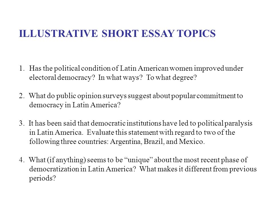 American Government Essay Topics