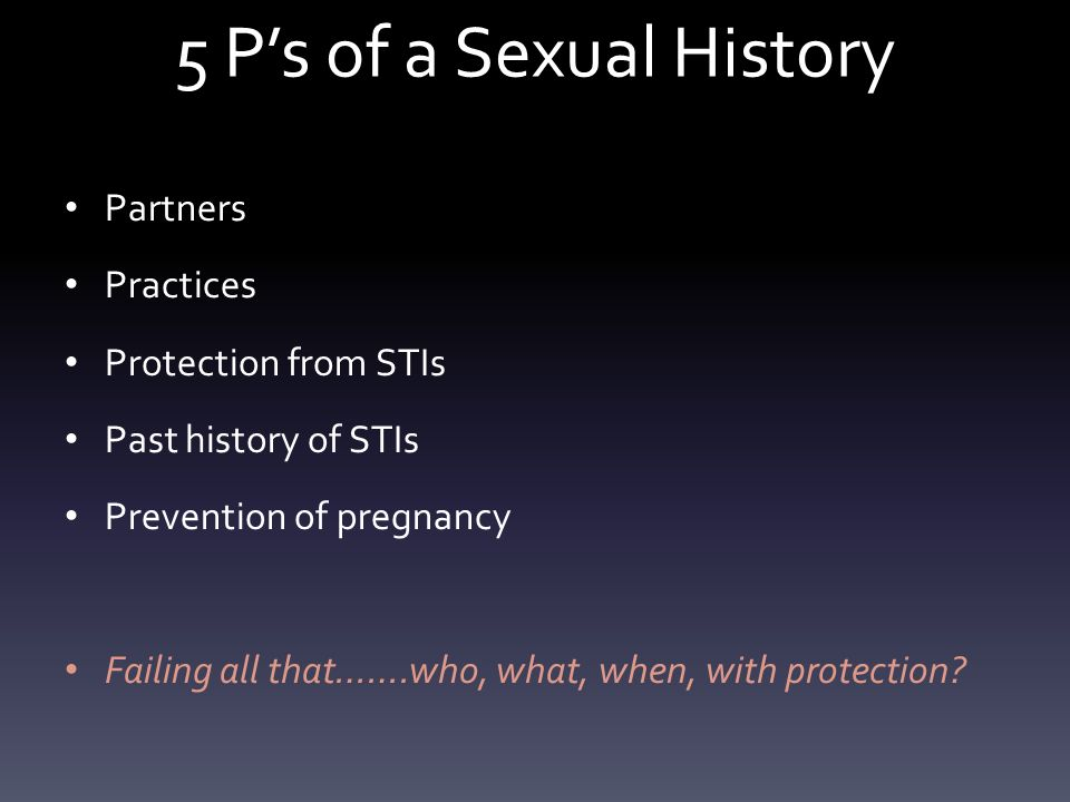 protection history sexual