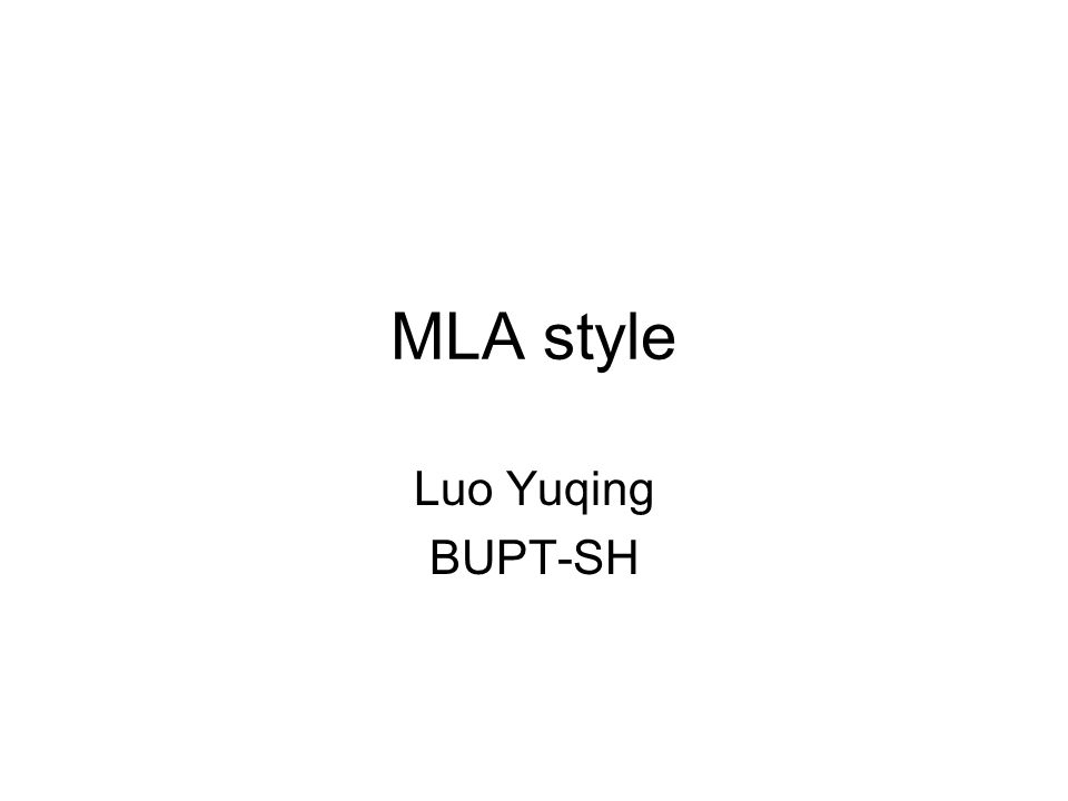 mla style cover page