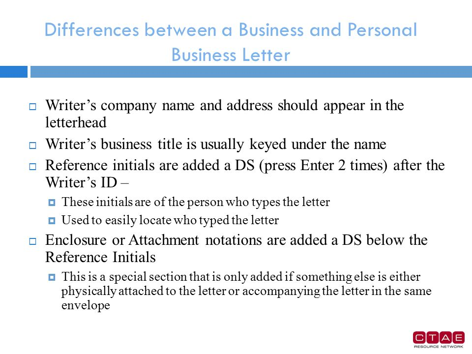 differences between business letters and social