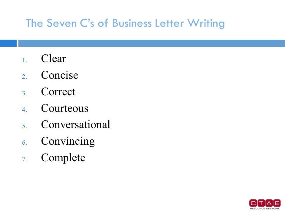 8 cs of business letter